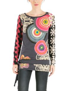 Desigual Damen Langarmshirt TS_JESI, Gr. 32/XXS (Herstellergröße: XS), Mehrfarbig (Fresa 3001) Colourful Outfits, Arm, Blouse, Long Sleeve, Tunics, Sleeves, Color, Clothes, Tops