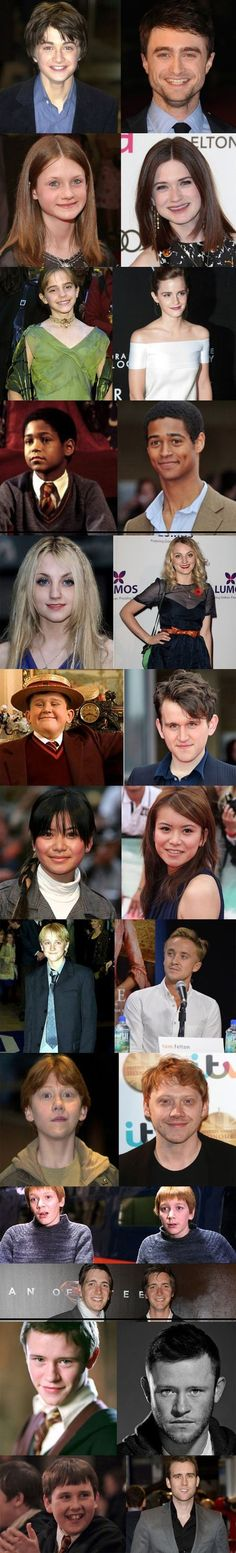 Harry Potter actors: then and now… There has to be magic behind this..... Not for Dan though. His expression is exactly the same...
