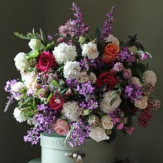 The Real Flower Company Mixed English Rose & Wild Flower Bouquet