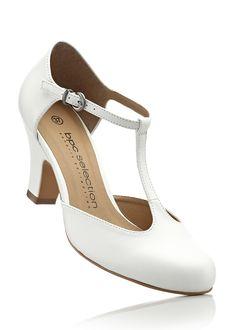 Lederspangenpumps weiß - bpc selection jetzt im Online Shop von bonprix.de ab € 34,99 bestellen. Für lange Tanzabende! Der Spangenpumps in hochwertiger ...