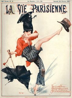 France La Vie Parisienne Magazine Poster by The Advertising Archives. All posters are professionally printed, packaged, and shipped within 3 - 4 business days. Choose from multiple sizes and hundreds of frame and mat options. Art Deco Posters, Vintage Posters, Vintage Art, French Magazine, Magazine Art, Magazine Covers, Inked Magazine, Art Deco Illustration, Illustrations