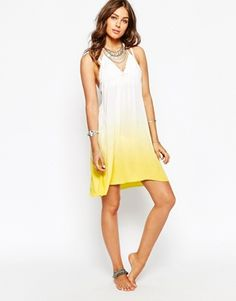 Spiritual Hippie Halter Ombre Beach Dress