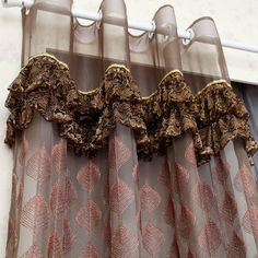 IMG Luxury Curtains, Sheer Curtains, Window Curtains, Drapery, Curtain Shop, Curtain Headings, Crochet Curtains, Woman Bedroom, Window Dressings