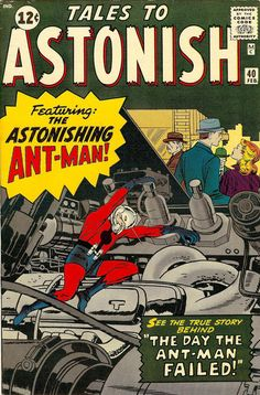 Tales to Astonish cover by Jack Kirby (pencils), Dick Ayers (inks), Stan Goldberg (colors), Artie Simek (letters), Stan Lee (script) Old Comic Books, Vintage Comic Books, Marvel Comic Books, Comic Book Artists, Comic Book Covers, Vintage Comics, Comic Book Heroes, Tales To Astonish, Marvel Comics Superheroes