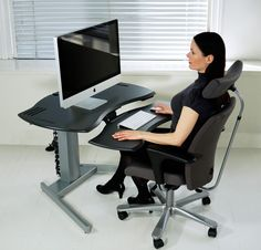 Desk with Single or Dual Surface Design | Biomorph Adjustable Computer