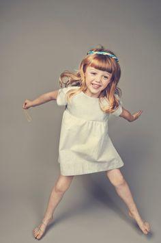 Tiny dot dress from LEOCA Paris for spring 2015 girlswear