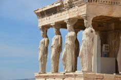 The caryatid porch on the Erechtheum