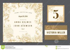 Set Backgrounds To Celebrate The Wedding. Stock Vector - Illustration of blossom, floral: 38734552