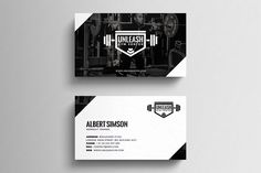 Gym Business Card Template by eightonesix on Letterpress Business Cards, Cool Business Cards, Business Card Mock Up, Business Brochure, Business Card Design, Creative Business, Letterhead Design Inspiration, Name Card Design, Bussiness Card