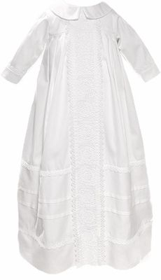 Unisex Christening Gowns 100% Cotton Family Baptism Outfit