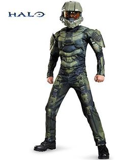 Disguise Master Chief Classic Muscle Costume
