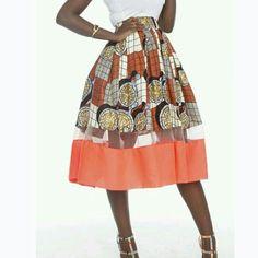 African print full skirt with mesh insert, theafricanshop, african clothing, african skirts, african African Dresses For Kids, Latest African Fashion Dresses, African Print Fashion, African Prints, African Fabric, African Attire, African Wear, Ankara Styles For Women, African Print Skirt