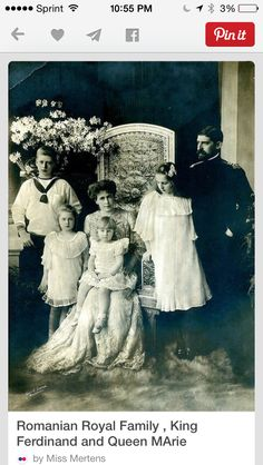 Romanian Royal Family with King Ferdinand and Queen Marie