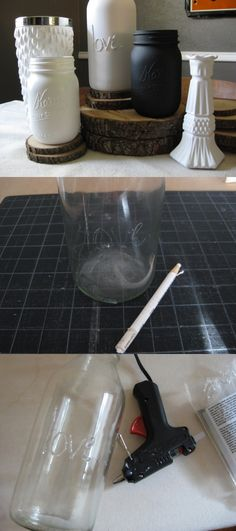 DIY Reduce, Reuse, Recycle: Repeat - Mason Jars #diy #bottle #jars