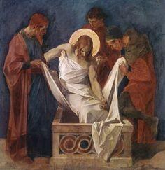 sherripage:    Martin von Feuerstein,Station 14,Jesus is laid in the tombhttps://en.wikipedia.org/wiki/Martin_von_Feuerstein