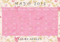 Calendario Mayo 2013 Laura Ashley, Weather, December 2016 Calendar, Weather Crafts
