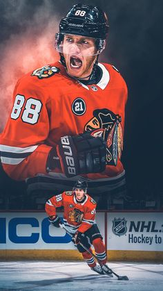 playing some of the best hockey of his life Blackhawks Hockey, Chicago Blackhawks, Nhl Wallpaper, Iphone Wallpaper, Hockey Posters, Sports Graphic Design, United Center, Sports Marketing, Sports Graphics