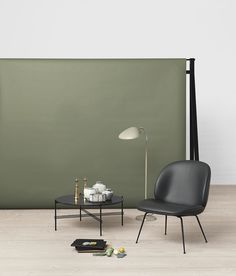 GUBI - Beetle Lounge Chair, TS Table and Cobra Floor Lamp http://decdesignecasa.blogspot.it