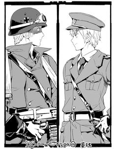 Hetalia England and Germany soldiers