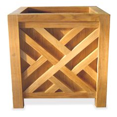 Teak Planter Boxes in both Chippendale and Mission styles made from Grade A Teak Wood with slatted floor. Long Lasting well priced. Wooden Planters, Outdoor Planters, Indoor Outdoor, Square Planter Boxes, Contemporary Planters, Garden Boxes, Planter Garden, Garden Plants, Teak Wood