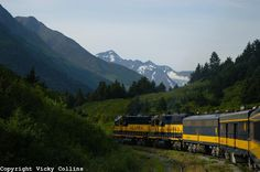 The Alaska Railroad...the Coastal Classic Train travels daily in the summer between Anchorage and Seward