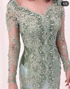 Dress Brukat, Batik Dress, Lace Dress, Model Dress Kebaya, Kebaya Modern Dress, Kebaya Muslim, Beanie Boos, Party Wear Dresses, Bridal Dresses