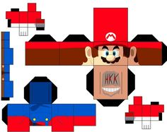 Mario Paper Toy Free Printable Papercraft Templates intended for Best Mario Kart Paper Crafts - Coloringside. Wax Paper Crafts, Mario Crafts, Video Game Party, Modern Crafts, Mario Party, Mario And Luigi, Plate Crafts, Paper Toys, Craft Videos