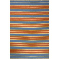 This striped kilim would be perfect in a boy's bedroom. | $65