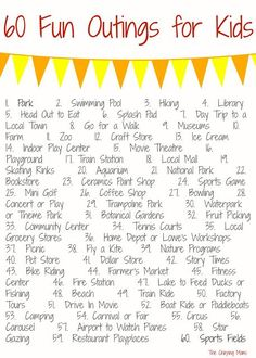 60 Places to Go with Kids || The Chirping Moms