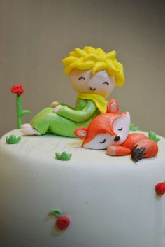 Cute cake at a Little Prince birthday party! See more party ideas at CatchMyParty.com!
