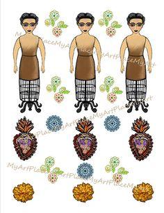 Frida Kahlo Art Frida Kahlo Print Frida Kahlo Paper by MyArtPlace