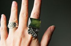 Huckleberry Statement Ring by littleWingedHeart on Etsy