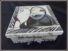 multiuso,presente,foto,mdf,caixa personalizada,porta joias,caixa para biju,madeira,decoupagem,laço,fita R$ 40,00