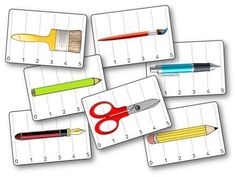 Battle of lengths: classroom tools Kindergarten Fun, Preschool Math, Teaching Schools, Teaching Math, Teaching Measurement, Fun Math Activities, Classroom Tools, Puzzles, 2nd Grade Math