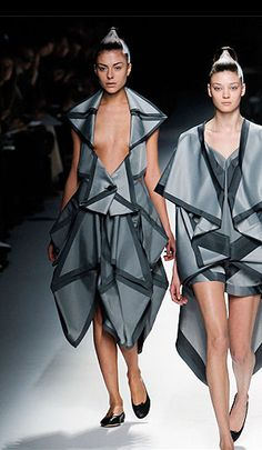Issey Miyake - origami (right hand side...I would totally wear this)