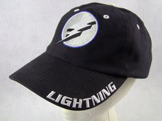 huge selection of 2e6fe b013a Tampa Bay Lightning Hat Cap Embroid Logo Black Slouch Hockey Adjustable  Velcro  TampaBayLightning Lightning,