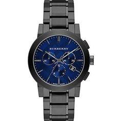 Large Chronograph Bracelet Watch, 42mm, Adult Unisex, Blue