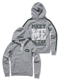 Cute JETS hoodie from Victoria Secret Pink... $54.50