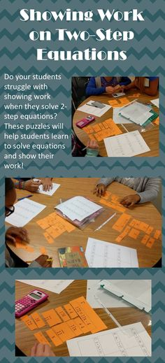 Students get to practice showing work and solving equations in this fun puzzle activity!