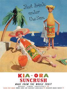 Kia-Ora Suncrush - the best drink under the sun! 1950s UK advert