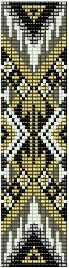 Герданы . Копилка схем black white and gold bead loom pattern Native American
