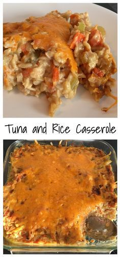 Canned tuna, brown rice, and lots of vegetables in a milk and cheese sauce.