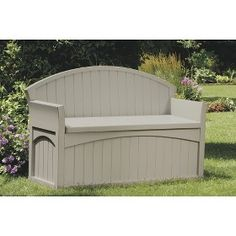 Suncast Patio Storage Bench - 50 Gallon