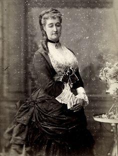 Empress Eugenie of France. 1870s.