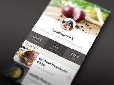 Nuofood profile UI