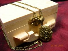 Steampunk Nautical Compass & Wheel Locket by mythicaljewelry, $19.99