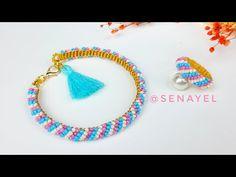 🍭Boncuktan Şeker Şerit Bileklik-Yüzük Yapımı. Candy Stripe Bracelet & Ring Making. Beading Tutorial. - YouTube Beading Tutorials, Tassel Necklace, Beaded Jewelry, Beads, Youtube, Videos, Fashion, Bangles, Stud Earrings