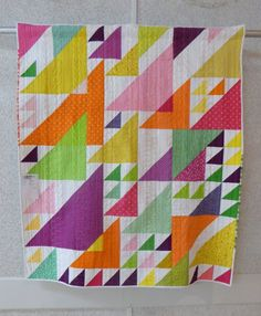 Triangle Quilt | by Patti of the Saskatoon Modern Quilt Guild