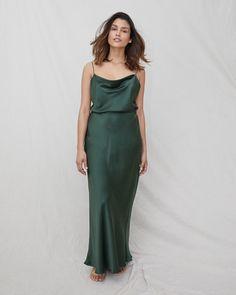 d51617736b Draped Silk Cami - Forest Green by NATALIJA 169.00 A luxurious wardrobe  staple
