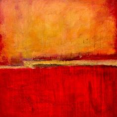 "Red Abstract Art - ""Under the Tuscan Sun"" wall art by Erin Ashley available at Great BIG Canvas. Red Abstract Art, Abstract Canvas, Canvas Wall Art, Wall Art Prints, Poster Prints, Framed Prints, Canvas Prints, Big Canvas, Sun Painting"